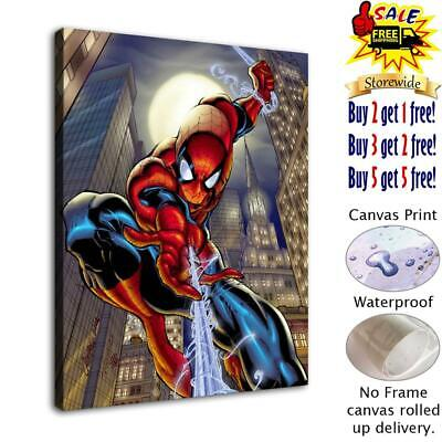 "Spiderman HD Canvas prints Painting Home decor Picture room Wall art 12""x16"""
