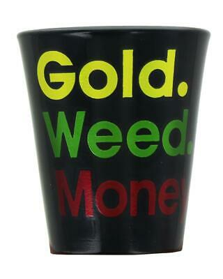 Gold Weed Money Shot Glass