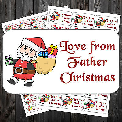 21 Christmas Gift Sticky Labels Stickers Tags Love From Father Christmas #acn