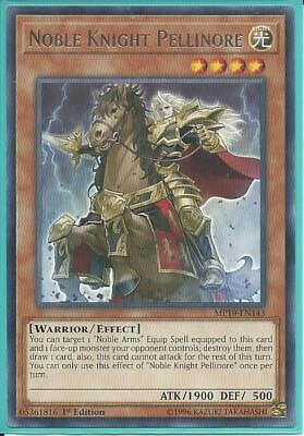 3x Yugioh MP19-EN143 Noble Knight Pellinore Rare Near Mint 1st Edition
