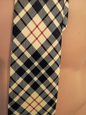 Rene Chagal Checked Tie #S