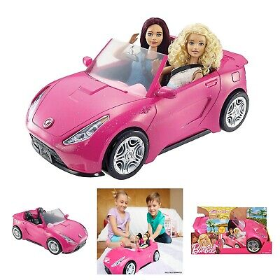 Barbie Doll Car Pink Sparkly Girl Glam Accessory Two Seater Vehicle Active Toy