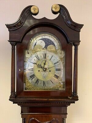 Mark Hawkins Of Bury St Edmunds Antique Longcase Clock Moon Phase Circa 1750