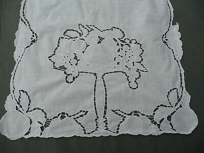 Doily Antique Lace Embroidered Embellishments Fruits 1930