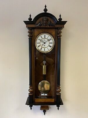 Antique Single Weight 8 day Vienna Wall Clock Circa 1880