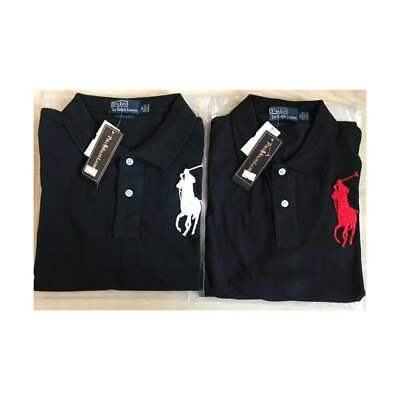 Men's Black Ralph Lauren Big Pony Polo t-shirt Short Sleeve Different Sizes