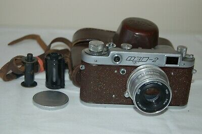 Fed-2, Type B4, RARE RED Soviet Rangefinder Camera & Lens. 393814. UK Sale