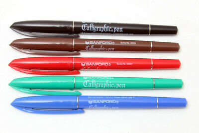 Sanford Calligraphic Vintage Pen Set Calligraphy Markers Multi Color-2.5mm
