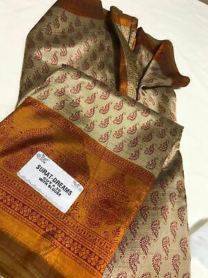 Crepe Silk Sari With Blouse Piece attached - Brand New with Tag