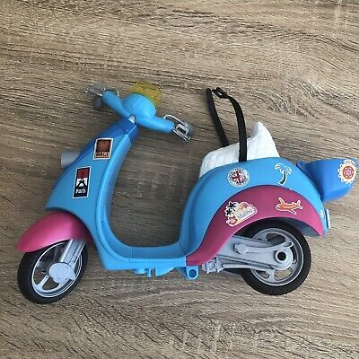 Barbie Doll Mattel 2011 Blue Moped