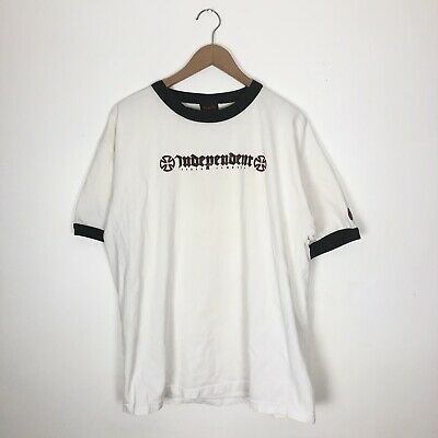 Vtg Independent Truck Company Ringer T Shirt Mens Size XL Extra Large