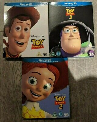 Toy Story Trilogy 3D (Blu-ray 2D/3D) 1 2 3 DISNEY PIXAR BRAND NEW! w/ Slipcovers
