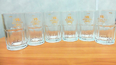 Set of 6 Vintage VB 330ml Beer Glasses