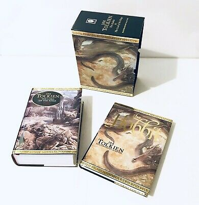 Vintage Lord Of The Rings & The Hobbit Book Box Set Illustrated By Allen Lee