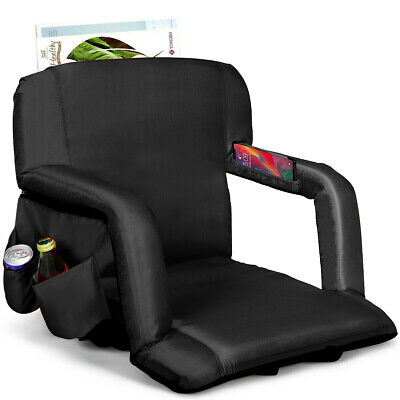 Stadium Seat Portable Chair with Backs Padded Cushion Convenient Pockets Design
