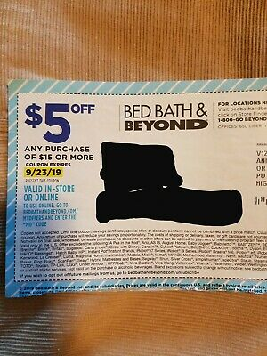 Bed Bath & Beyond Coupon $5 Off Any $15 Purchase - Online - eDelivery