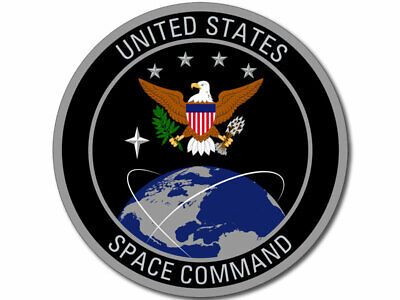 4x4 inch ROUND United States Space Command Seal Sticker (us force logo insignia)