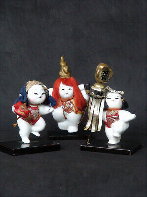 Japanese Vinatge Gosho Ningyo Doll Set of 3