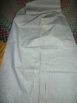 Vintage Ticking 32.5 Wide By The Yard  Blue White Stripe