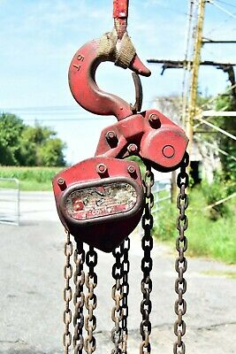 Coffing LHH 5 Ton Chain Fall / Chain Hoist 15' Lift