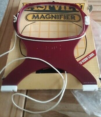 VINTAGE?Easi-View Magnifier for Reading/Crafts Made by Coil with neckcord Boxed