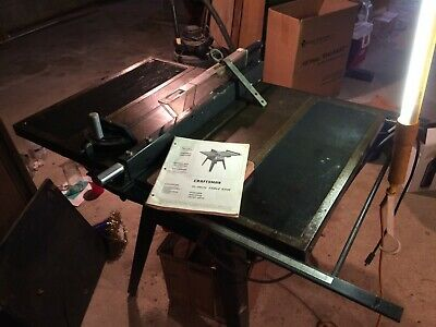 Vintage Sears / Craftsman 10in Table Saw with original manual! (with extensions)