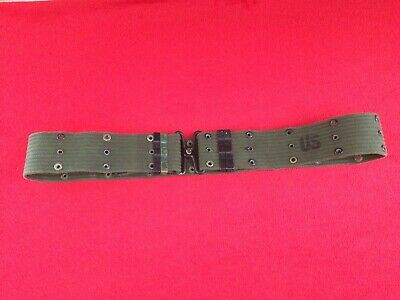 Vietnam War US Army Soldiers & Officers Web Pistol Belt Holster Size M