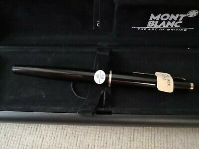 "Montblanc 310 Fountain Pen black and gold Nib EF "" NEW"""