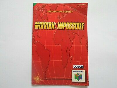 MISSION IMPOSSIBLE - Instruction Booklet Manual - Nintendo 64 N64