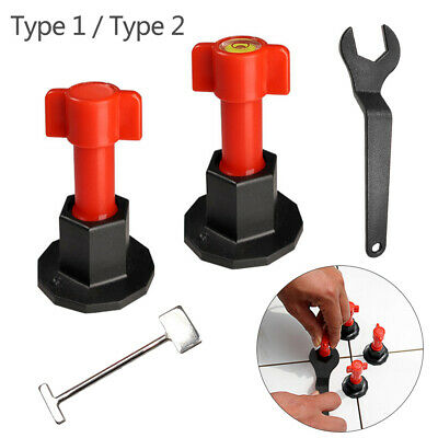 Tile Leveling System Kit with T-type Tiles Ceramics Leveler Special Wrench
