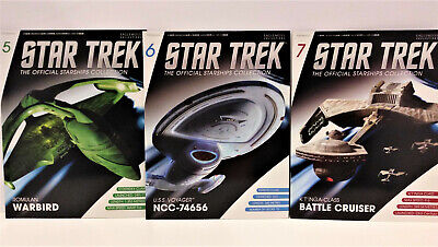 Star Trek The Official Starships Collection Magazines 5,6 & 7