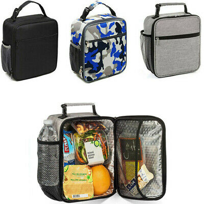 Portable Lunch Bag Insulated Box Tote Bag Thermal Cooler Food Picnic Bag Unisex