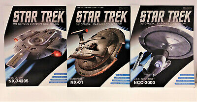 Star Trek The Official Starships Collection Magazines NX-74205, NX-01, NCC-2000