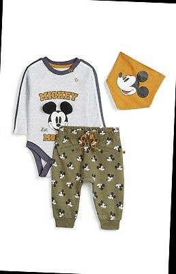 Primark Baby Boys Disney Mickey Mouse 3 Piece Outfit Bnwt All Ages