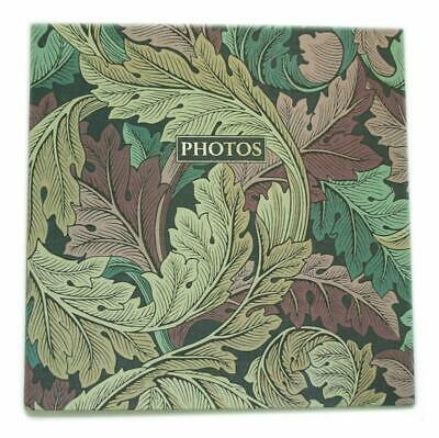 Morris  Co – Acanthus Photo Album | Linen Fabric Cover | 25 Self-Adhesive Pages