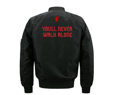 Liverpool Football Soccer Club You Will Never Walk Alone Sport Varsity Jacket