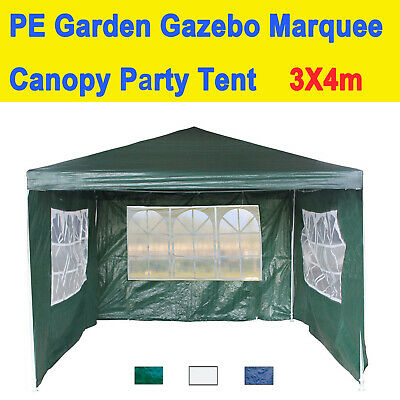 Gazebo Marquee Party Tent W/ Sides Waterproof Garden Patio Outdoor Canopy 3mx4m