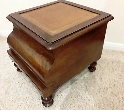 Beautiful Antique Walnut Commode With Bed Steps