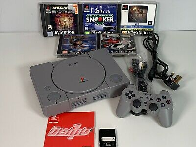 Sony Playstation 1 PS1 Console PAL 5 Games 1 Demo  Disc & Memory Card Bundle