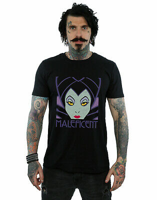 Disney Men's Maleficent Cropped Head T-Shirt