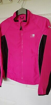 Karrimor girls high visibility running jacket. Age 11-12 years, bright pink.New.