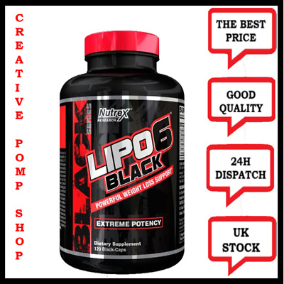 Nutrex Lipo 6 black 120 caps. Best Fat Burner Extreme Weight Loss USA version