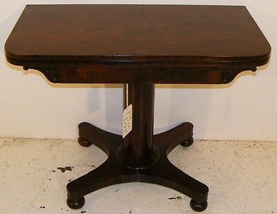 Good Quality Antique 19Th Century Rosewood Card Games Table