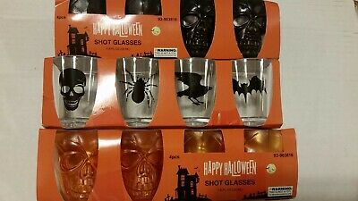 Halloween Skull Plastic Shot Glasses lot of 12