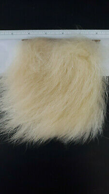 "1:) Pc 4""X4""of TOP QUALITY "" BEAR "" ( NAT.WHITE ) BIG PATCH POLAR 3""- 3.5 "" HAIR"