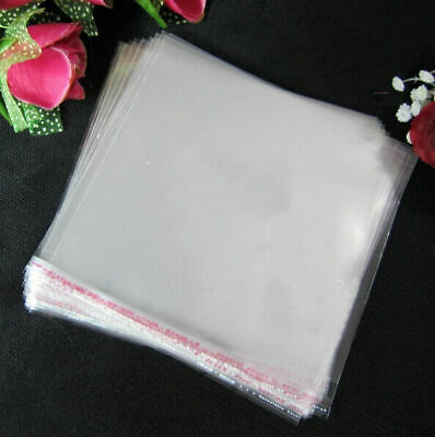 100 PCS OPP Transparent Jewelry Bag Beads Bags Self Adhesive Seal Pack Universal