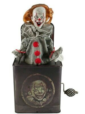 """Halloween Animated PENNYWISE The Clown """"JACK IN THE BOX"""" -IT- Chapter 2 In Stock"""