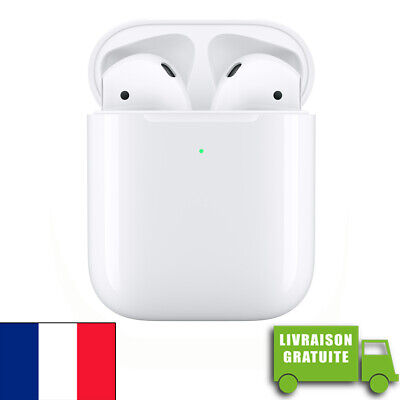 AirPods 2 APPLE BOITIER SANS FIL wireless écouteurs earphones bluetooth ORIGINAL