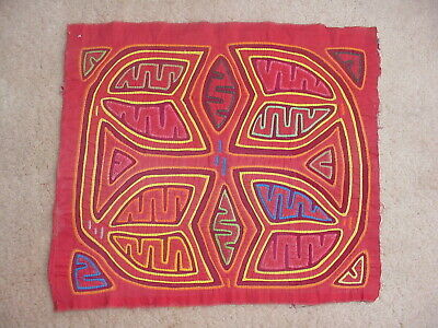 Classic Vintage Kuna Indian Abstract Mola From Panama