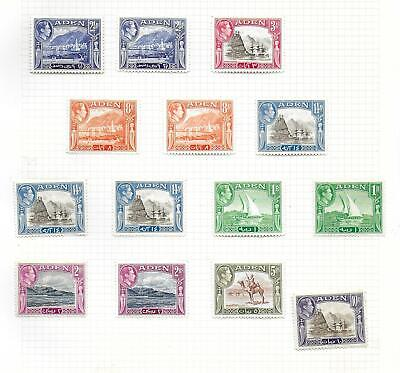 Aden stamps 1939 MI 16-28 MLH VF 2 SCANS